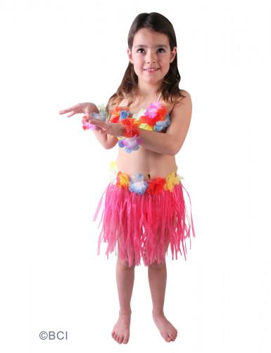 Déguisement hawaïenne rose fille