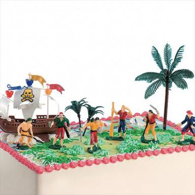 Kit de décorations gâteaux pirate-1