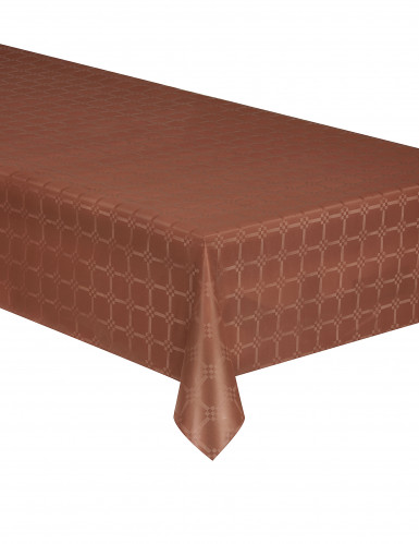 Nappe en rouleau papier damassé chocolat