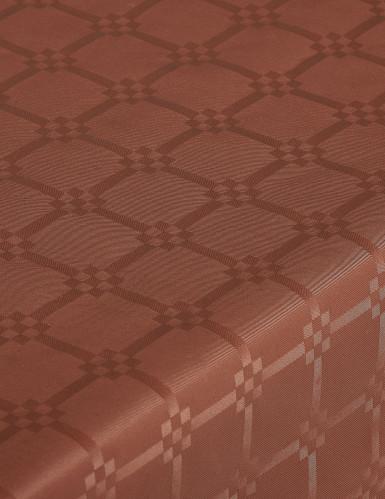 Nappe en rouleau papier damassé chocolat-1