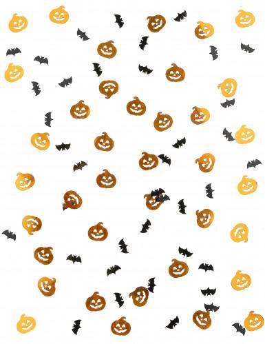 Confettis citrouille et chauve souris Halloween 14 grammes-1