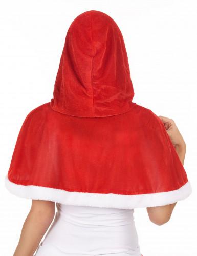 Cape avec capuche Mère Noël femme-1