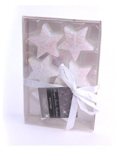 5 Bougies étoiles blanches-1