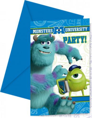 6 Cartes d'invitation Monsters university™