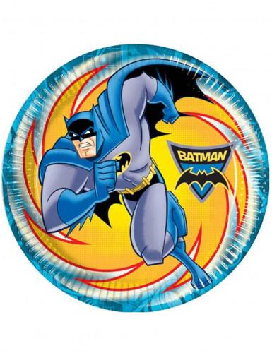 8 Assiettes en carton Batman™ 23 cm