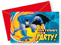 6 Cartes d'invitation Batman™