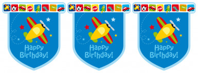 Guirlande Happy Birthday Avions