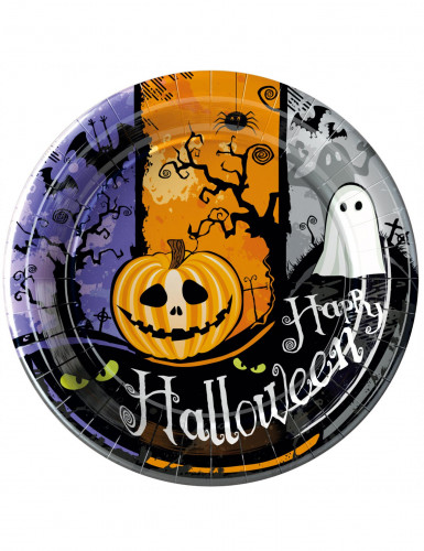 10 Assiettes en carton Halloween 23 cm