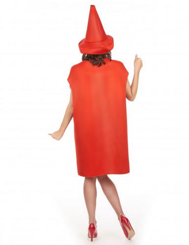 Déguisement pot de ketchup adulte-4