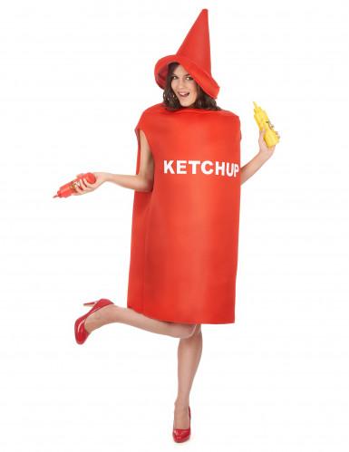 Déguisement pot de ketchup adulte-5