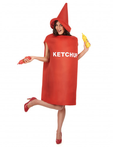 Déguisement pot de ketchup adulte-1