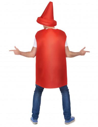 Déguisement pot de ketchup adulte-2