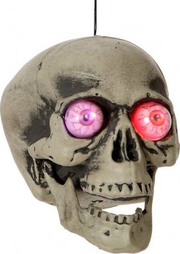 Tête de mort avec lumière Halloween
