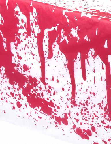 Nappe blanche tâchée de sang halloween-1