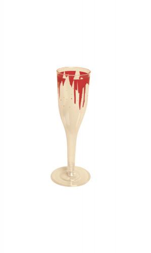 6 Flûtes en plastique sanglantes Halloween