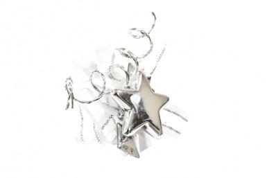6 Pinces à linge blanches étoiles