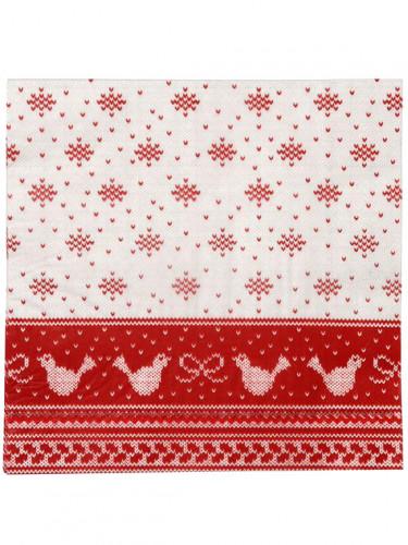 20 Serviettes en papier Chalet de Noël 40 x 40 cm