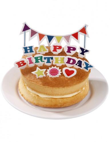Décorations gâteaux Happy Birthday