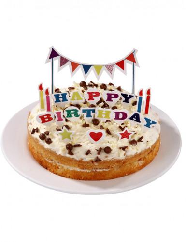 Décorations gâteaux Happy Birthday-1