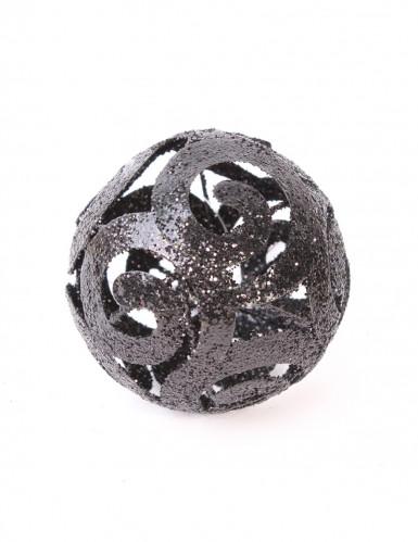 Boule métal noire 7 cm
