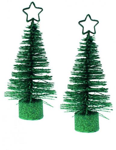 2 Sapins de Noël marques places vert