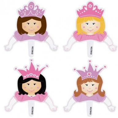 Décorations à cupcakes princesses