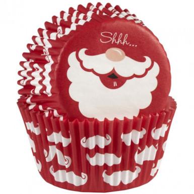 75 Moules à cupcake père noël