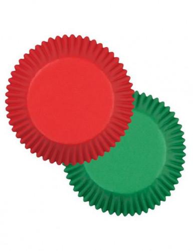 75 Moules à cupcake rouge et vert