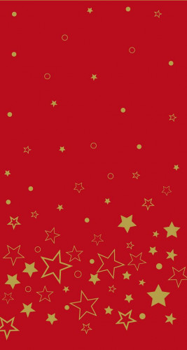 Nappe en rouleau papier damassé rouge étoilée