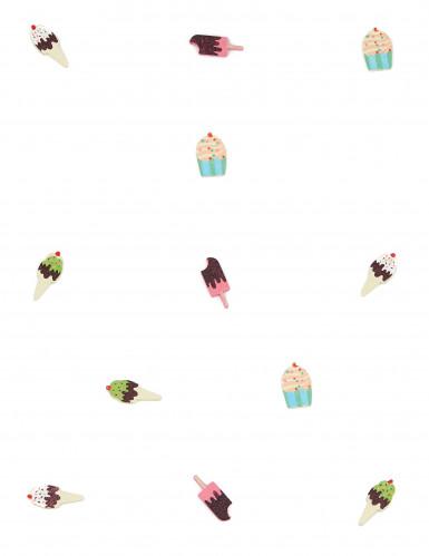 12 Confettis de table en bois Gourmandise-1