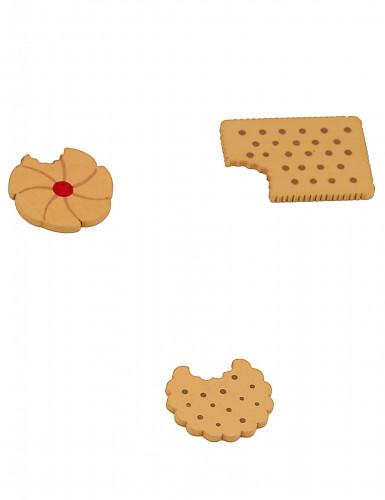 12 Confettis de table en bois petits gâteaux