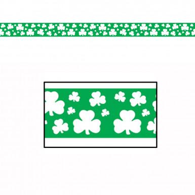 Guirlande plastique trèfles St Patrick 6 mètres
