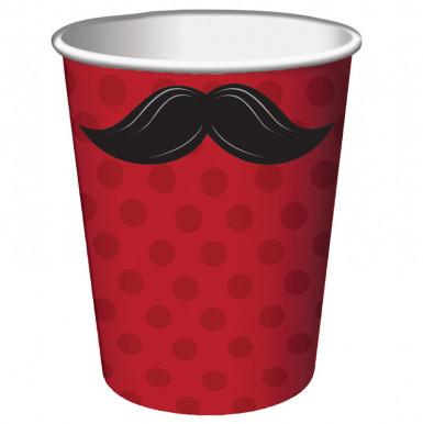 8 gobelets moustache
