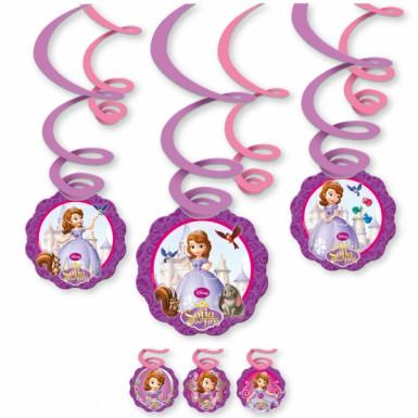 6 Décorations à suspendre spirales Princesse Sofia™