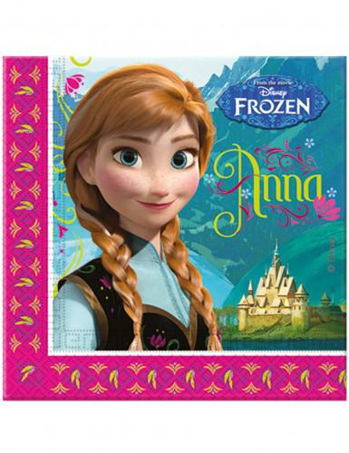 20 Serviettes en papier La Reine des neiges™ 33 x 33 cm