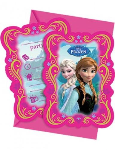 6 cartes d'invitation La Reine des neiges™