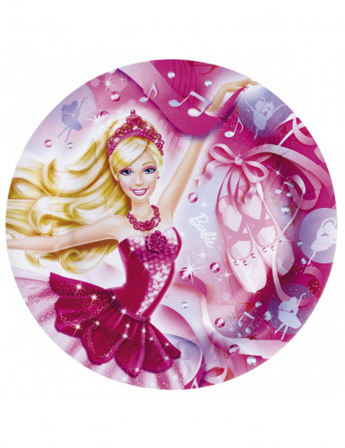 8 Assiettes en carton Barbie™ 23 cm