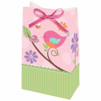 12 sacs de fête l'oiseau rose