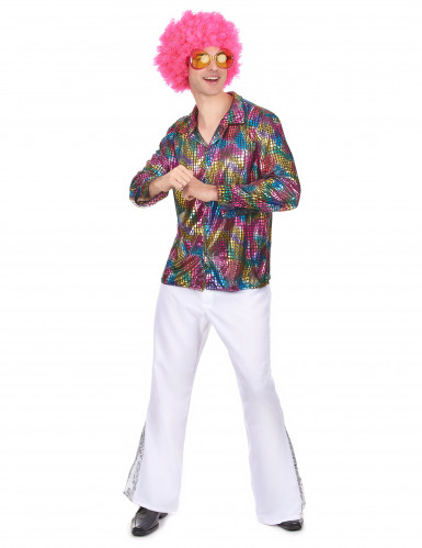 Chemise disco homme multicolore