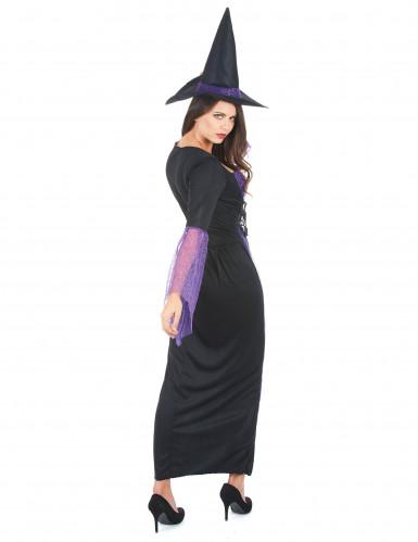 Déguisement sorcière violette femme-2