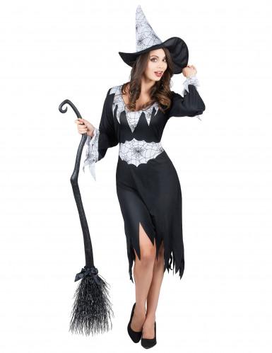 Déguisement sorcière noir et blanc femme