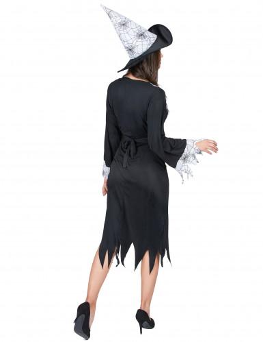 Déguisement sorcière noir et blanc femme-2