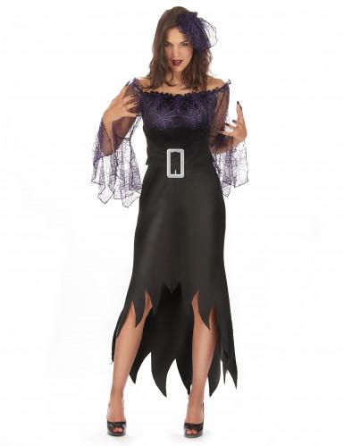 Déguisement femme araignée violette