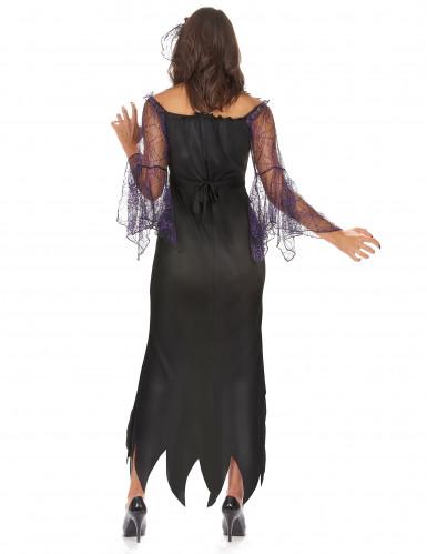 Déguisement femme araignée violette-2