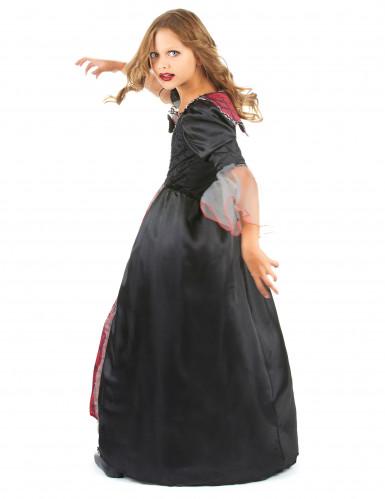 Déguisement vampire rouge et noir fille-2