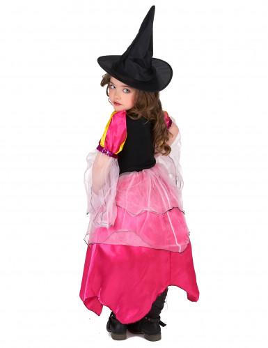 Déguisement sorcière rose fille-2