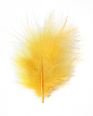 Plumes jaunes de décoration 10 grammes