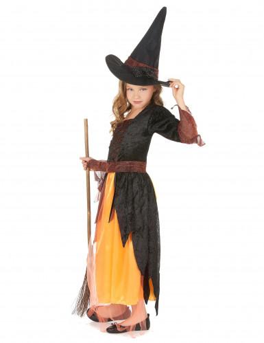 Déguisement sorcière orange fille-1