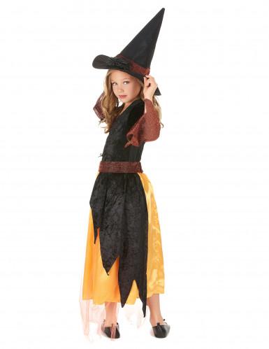 Déguisement sorcière orange fille-2