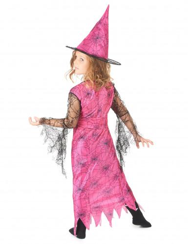 Déguisement sorcière araignée rose fille-2